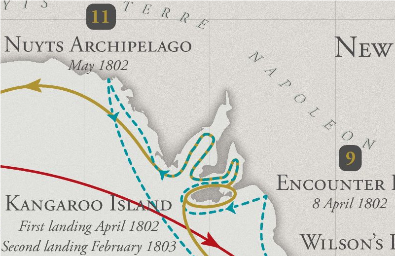 Terre-Napoléon_Kanguroo-Island_1802-1803